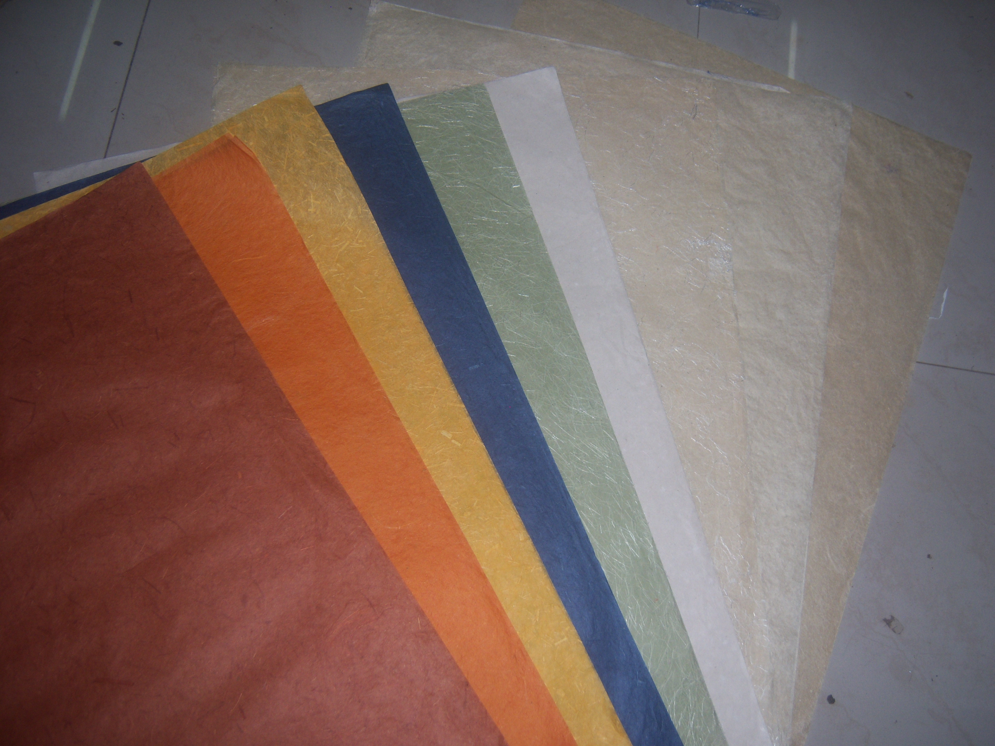Custom made paper