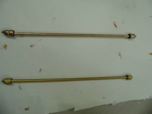 scroll rods, plastic scroll rods, wooden scroll rods, brass scroll rods,