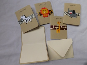 custom made birthday cards, safari theme birthday cards, animal theme birthday cards, kids birthday cards
