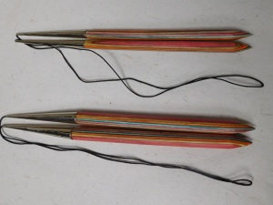 wooden knitting needles. wooden needles,